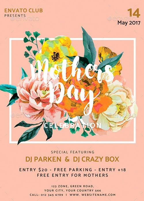 Mothers Day event Flyer Template for the Perfect Mothers Day