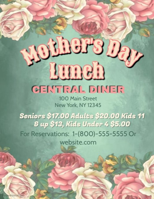 Mothers Day Lunch Template