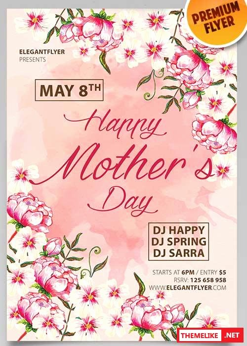 Mothers Day V4 Psd Flyer Template All Design Template