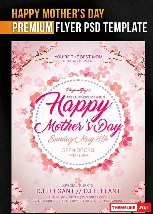 Mothers Day V8 Psd Flyer Template All Design Template