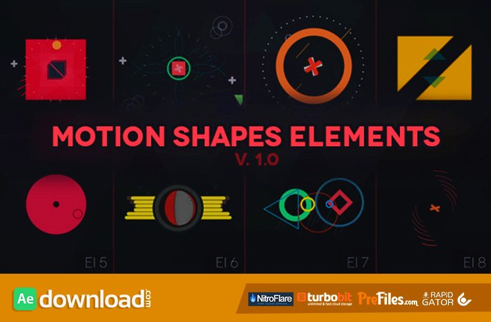 Motion Shapes Animated Elements Videohive Template
