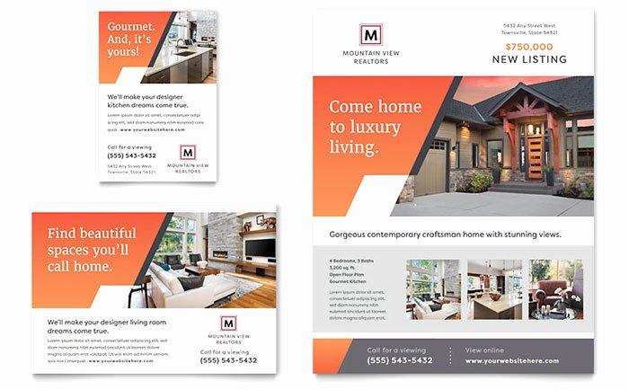 Mountain Real Estate Flyer & Ad Template Design