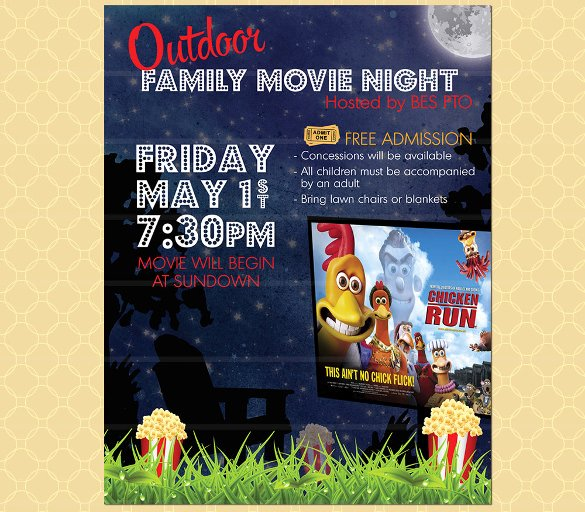 Movie Night Flyer Template 18 Free Jpg Psd format