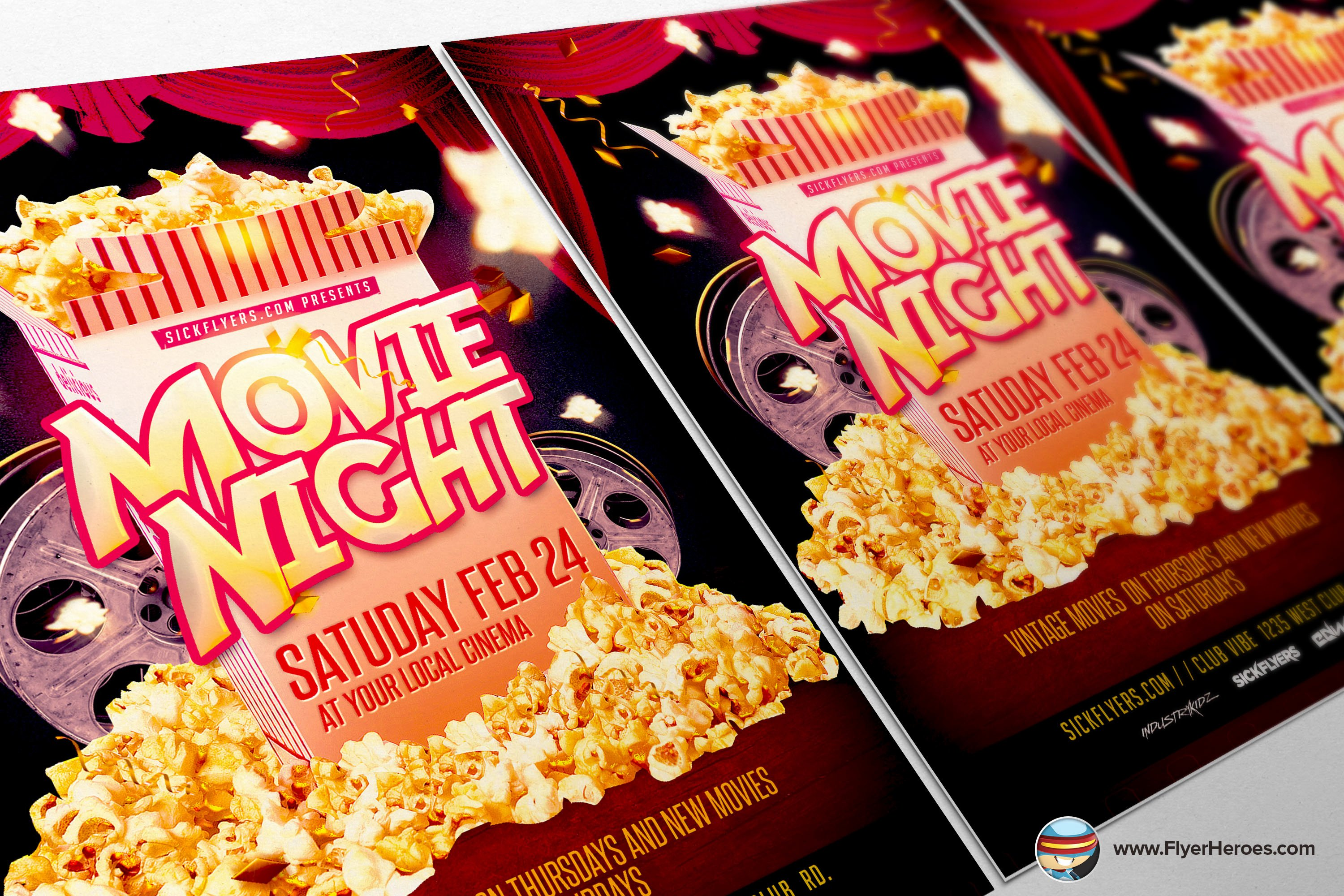 Movie Night Flyer Template Flyer Templates On Creative