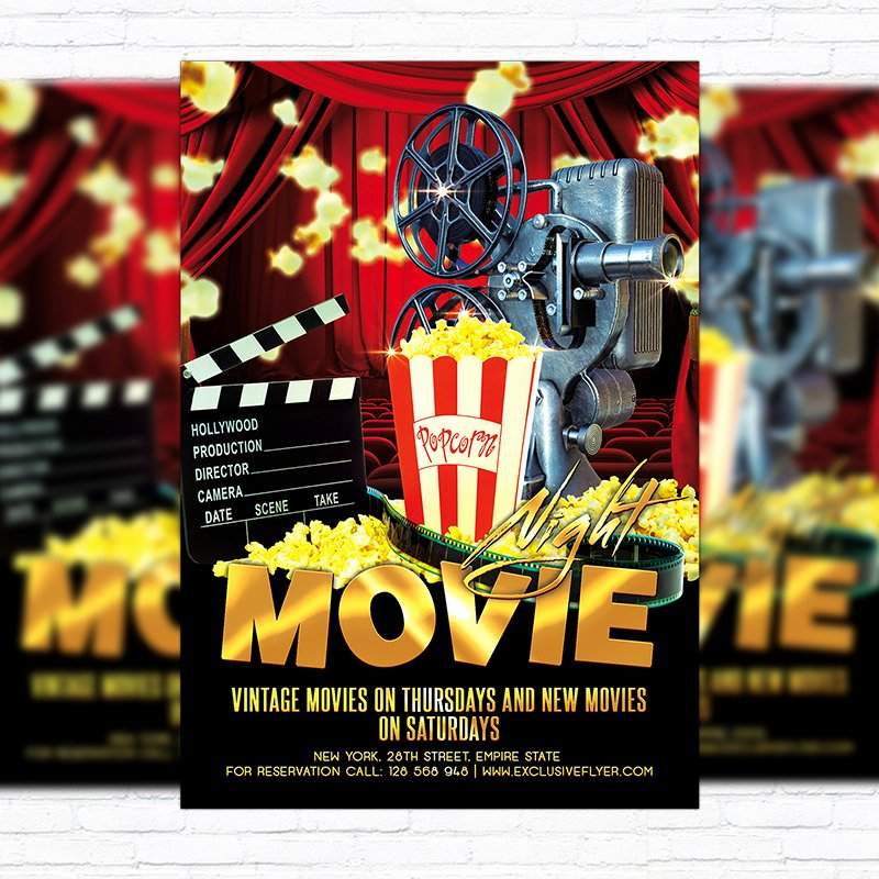 Movie Night – Premium Flyer Template Cover