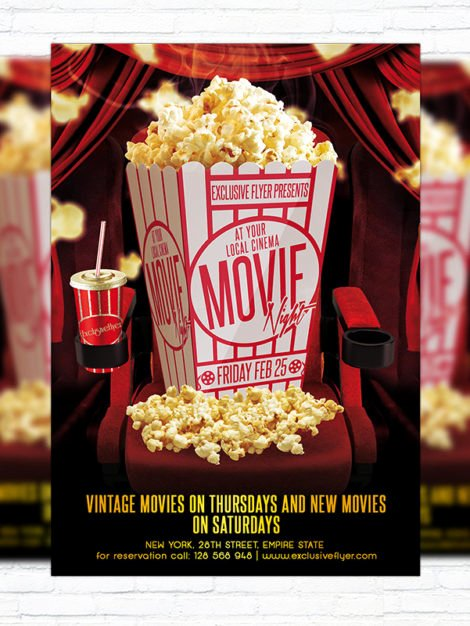 Movie Night – Premium Psd Flyer Template