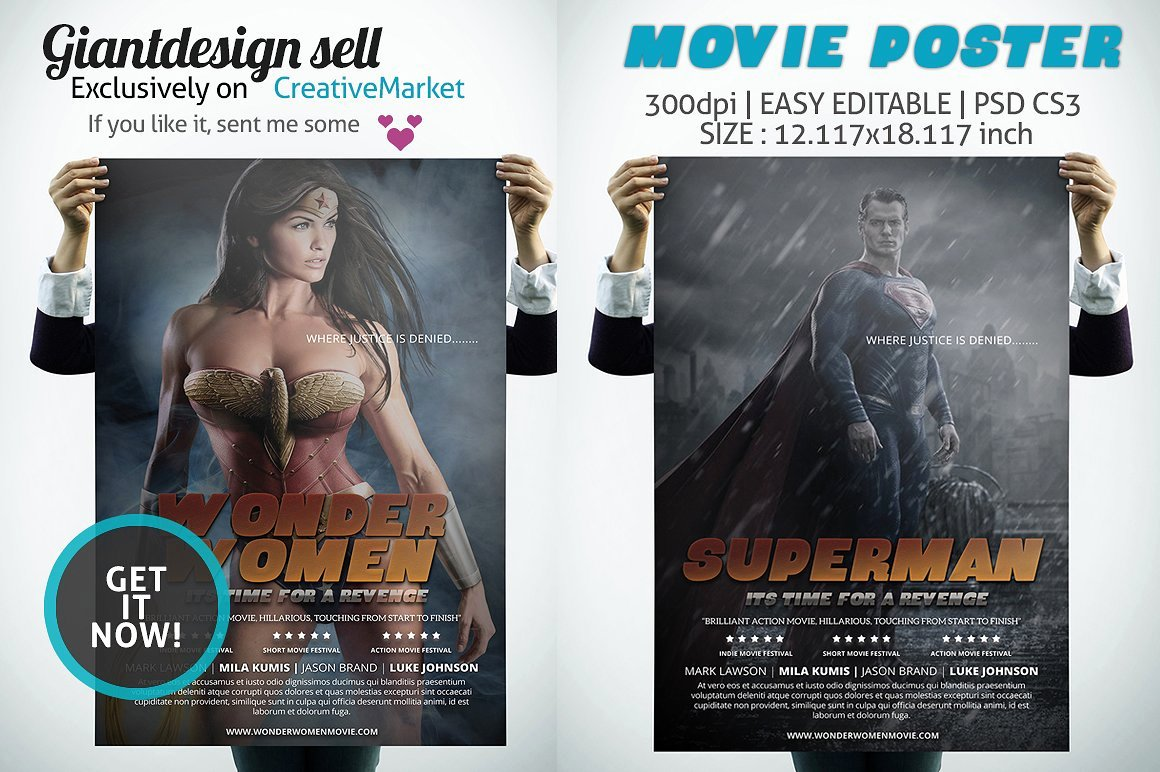 Movie Poster Flyer Templates Creative Market