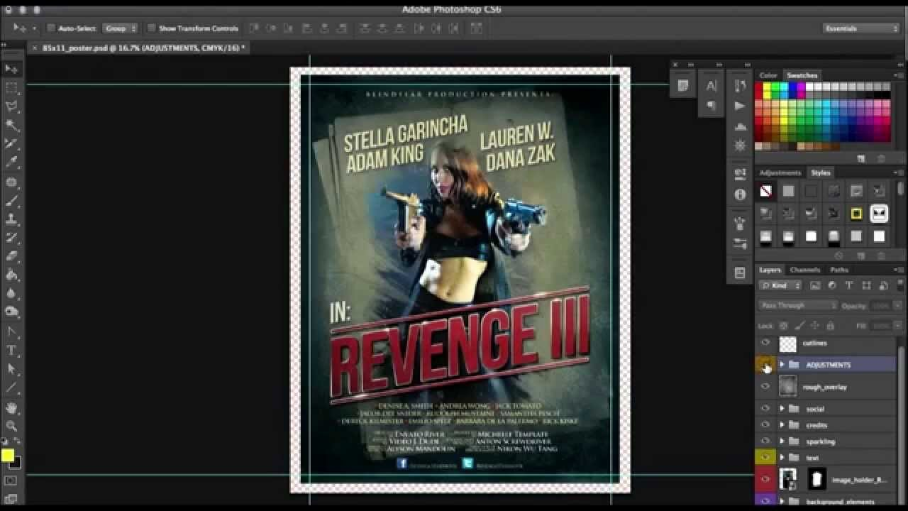 movie poster template psd free