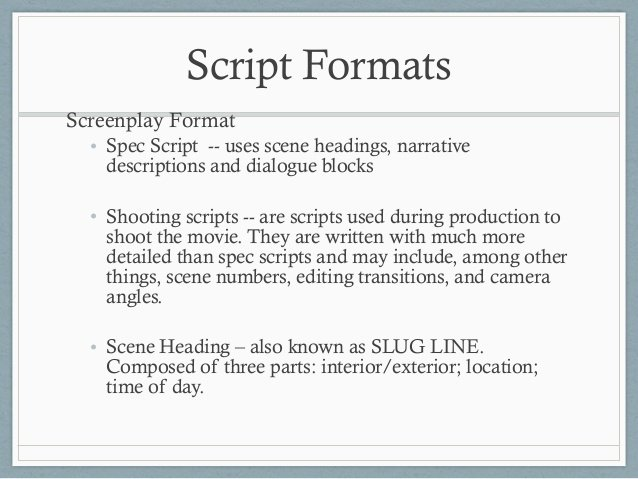 Movie Script Template