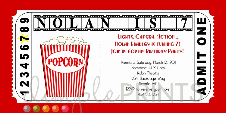 Movie Ticket Invitation Free Printable – orderecigsjuicefo