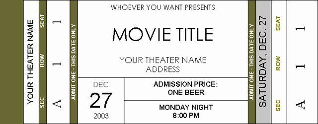 Movie Ticket Invitation Free Printable – orderecigsjuicefo
