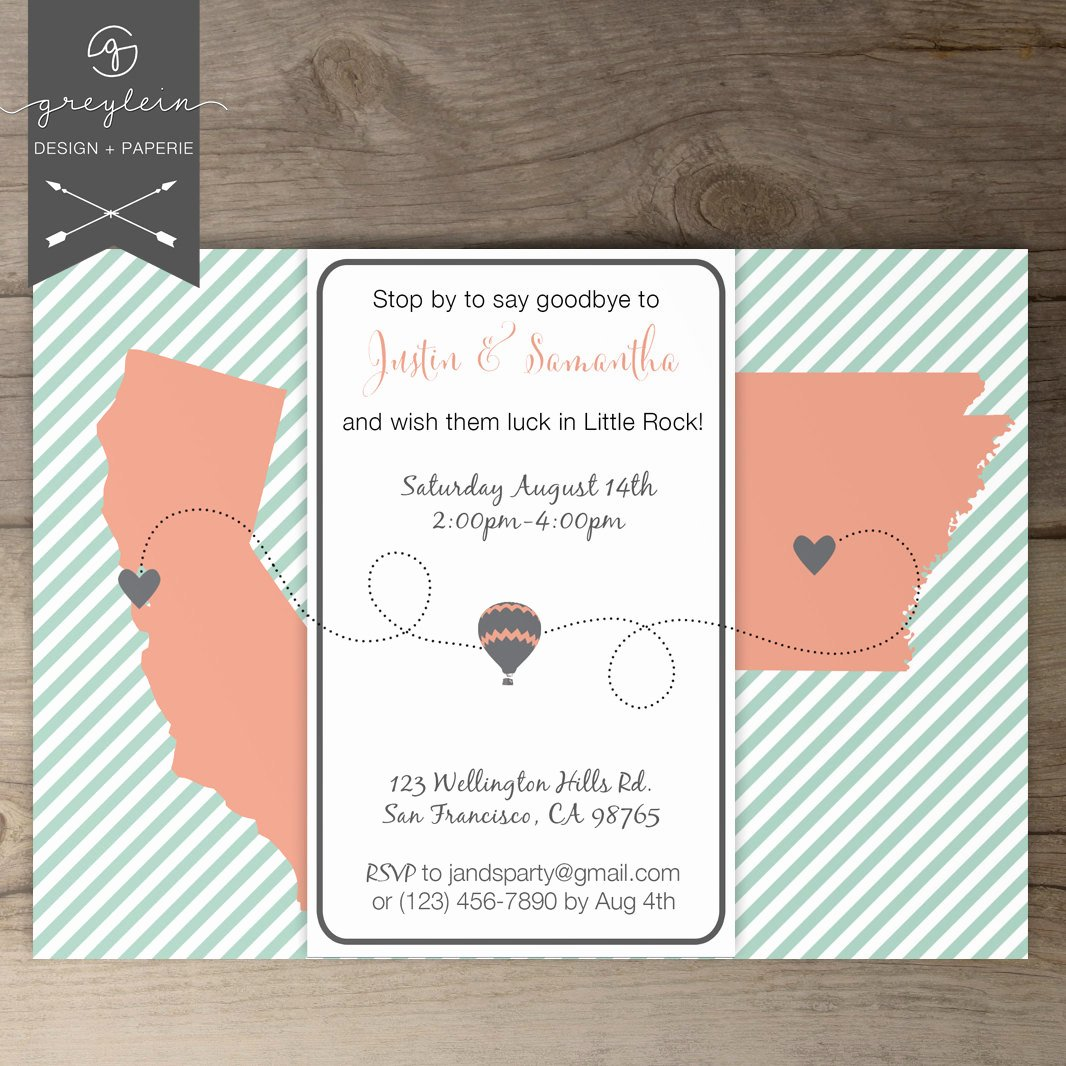 Moving Going Away Party Invitations Invites