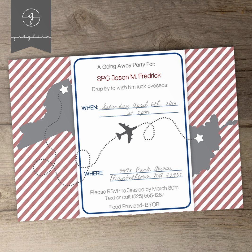 Moving Going Away Party Invitations or Announcements Diy