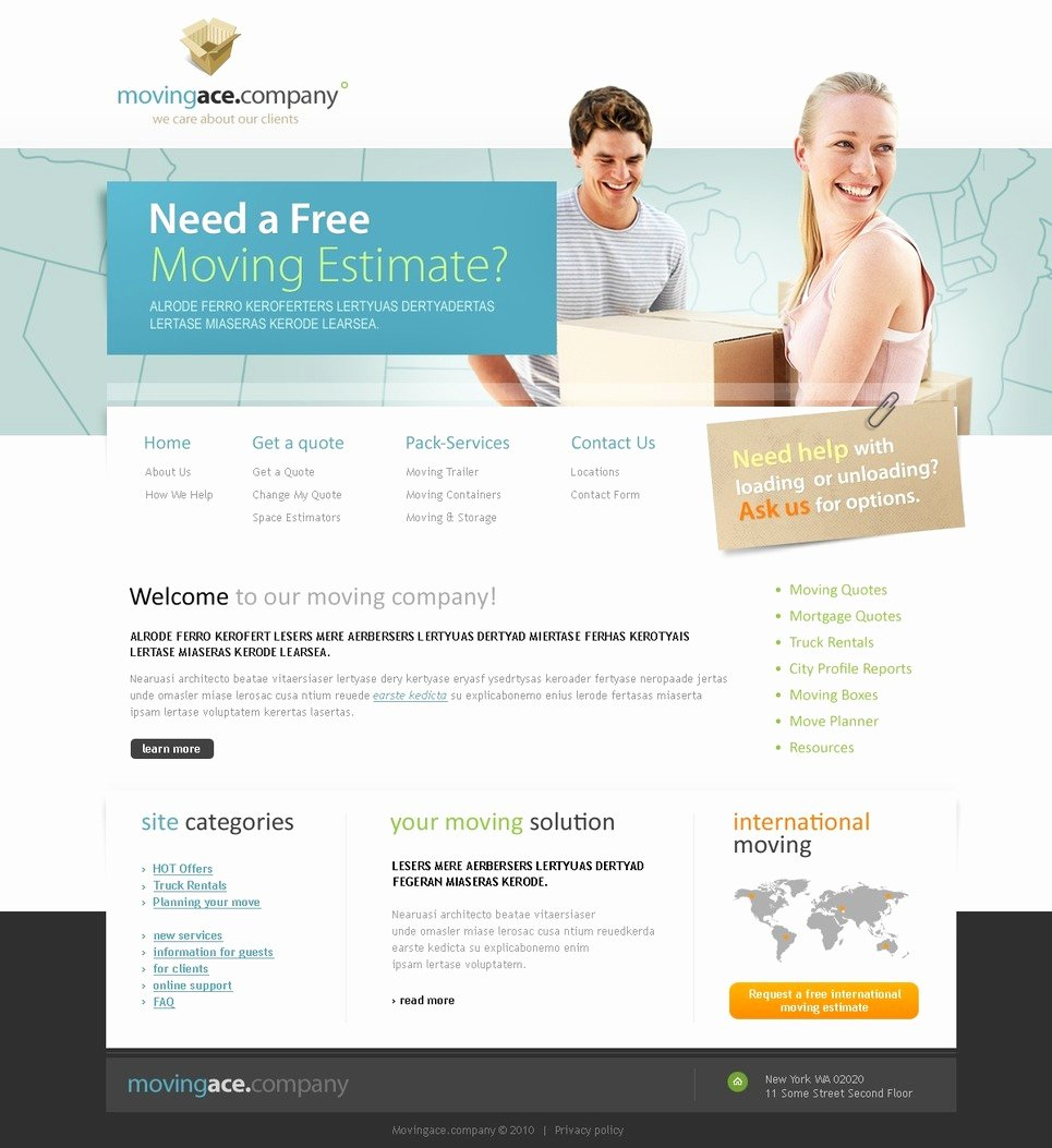 Moving Pany Website Template