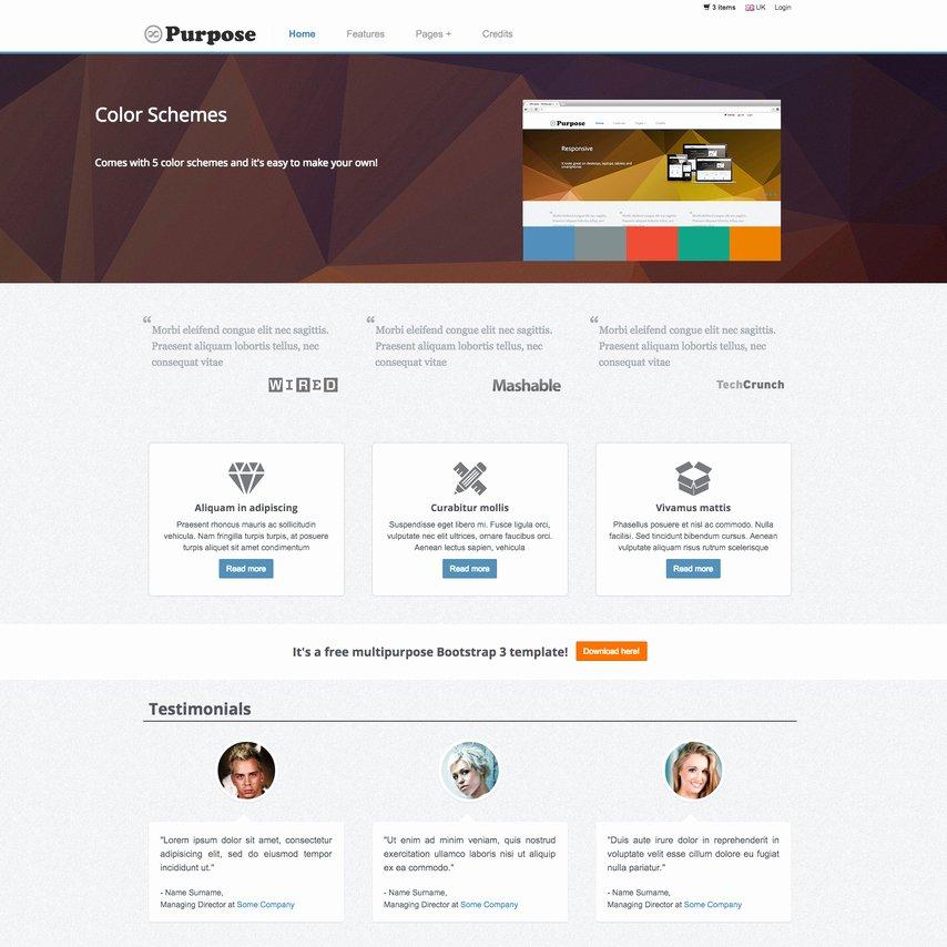 Mpurpose Free Responsive E Merce Website Template