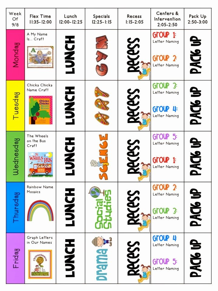 Mrs Ricca S Kindergarten Classroom Library & Lesson Plans
