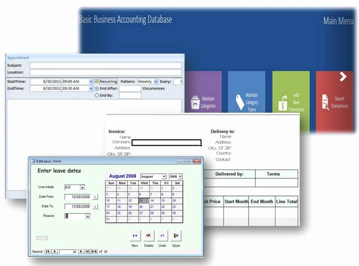 Ms Access Database Templates – some are even Free