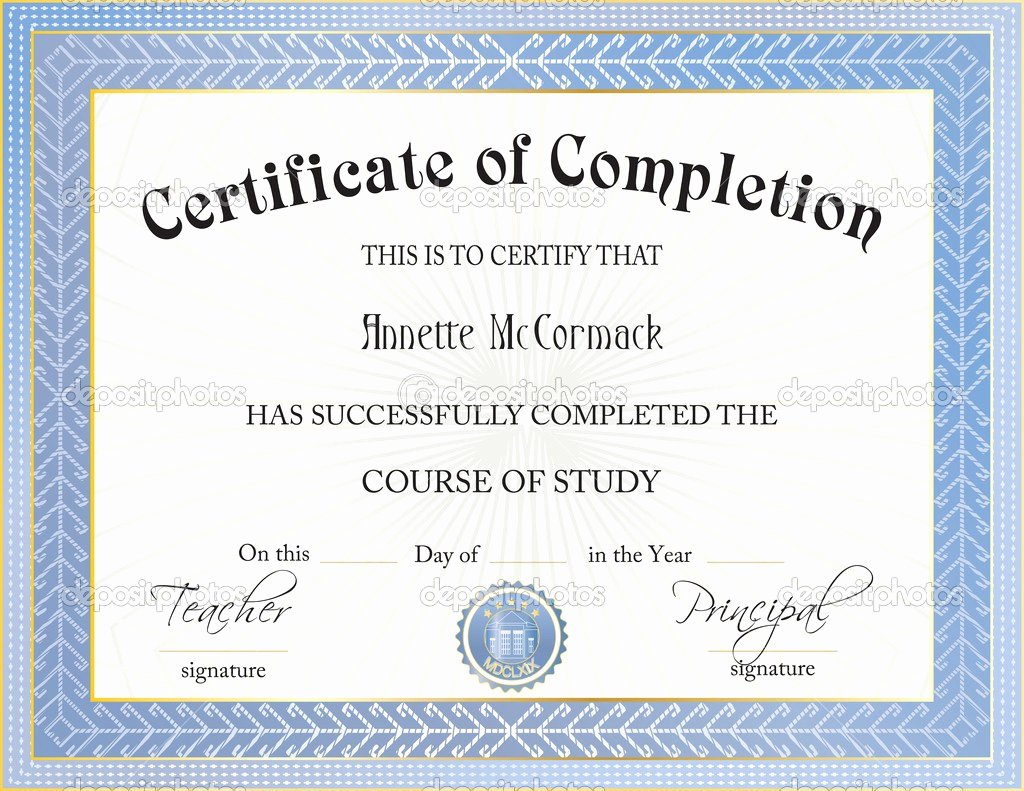 Ms Word Certificate Pletion Template Templates Station