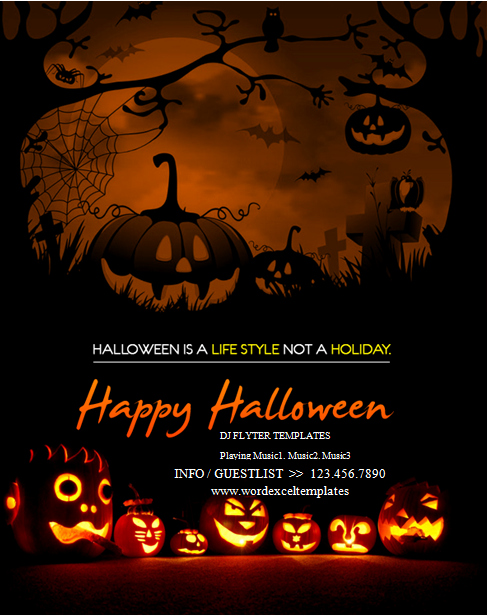 Ms Word Halloween Party Flyer Templates