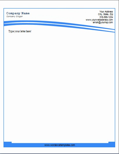 Ms Word Pany Letterhead Templates