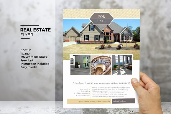 Ms Word Real Estate Flyer Template Flyer Templates