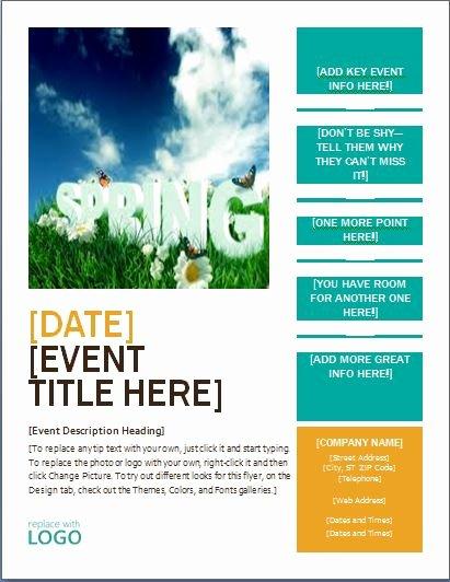Ms Word Seasonal event Flyer Templates