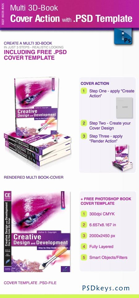 Multi 3d Book Cover Action with Psd Template