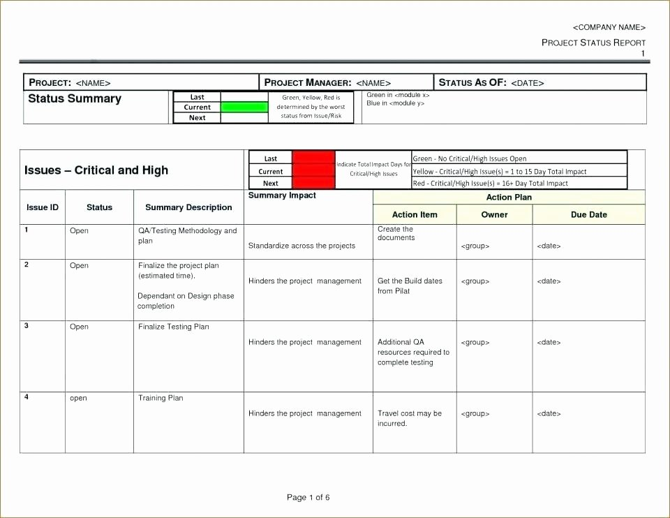 Multiple Project Tracking Template Excel Project Status
