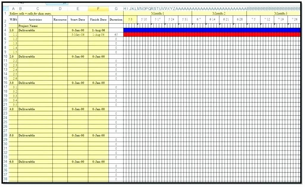 Multiple Project Tracking Template Excel to Free Project