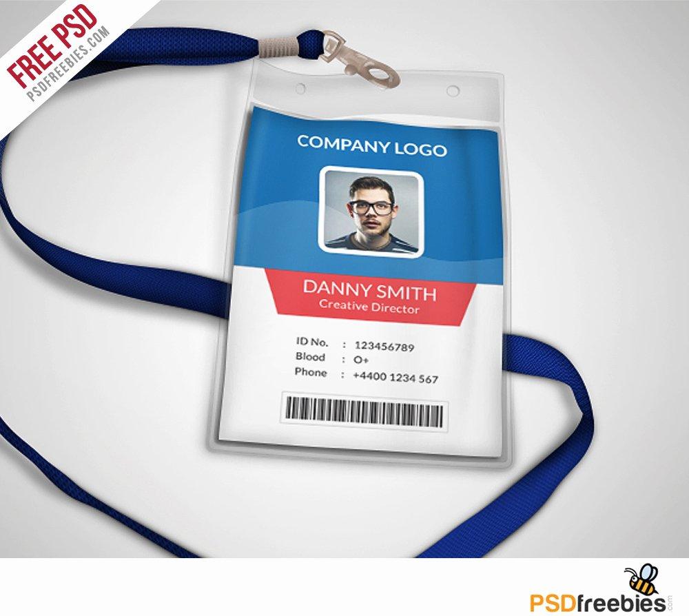Multipurpose Pany Id Card Free Psd Template