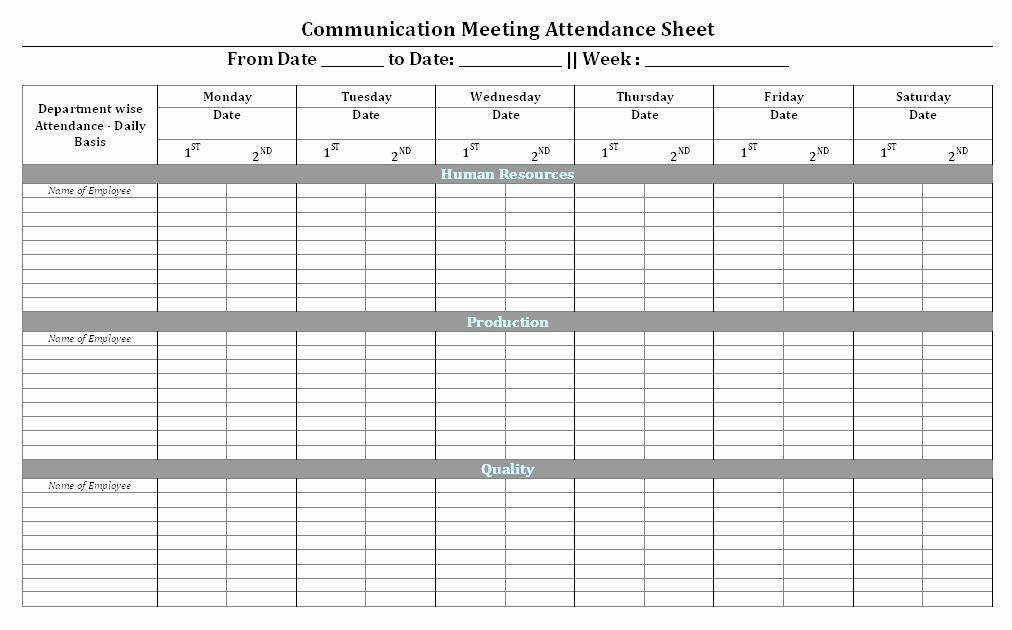 Munication Meeting attendance Sheet format