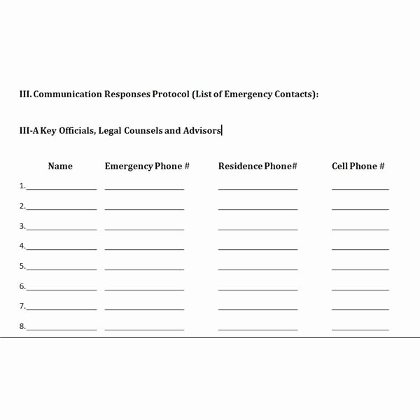 Munication Plan Crisis Management Munication Plan