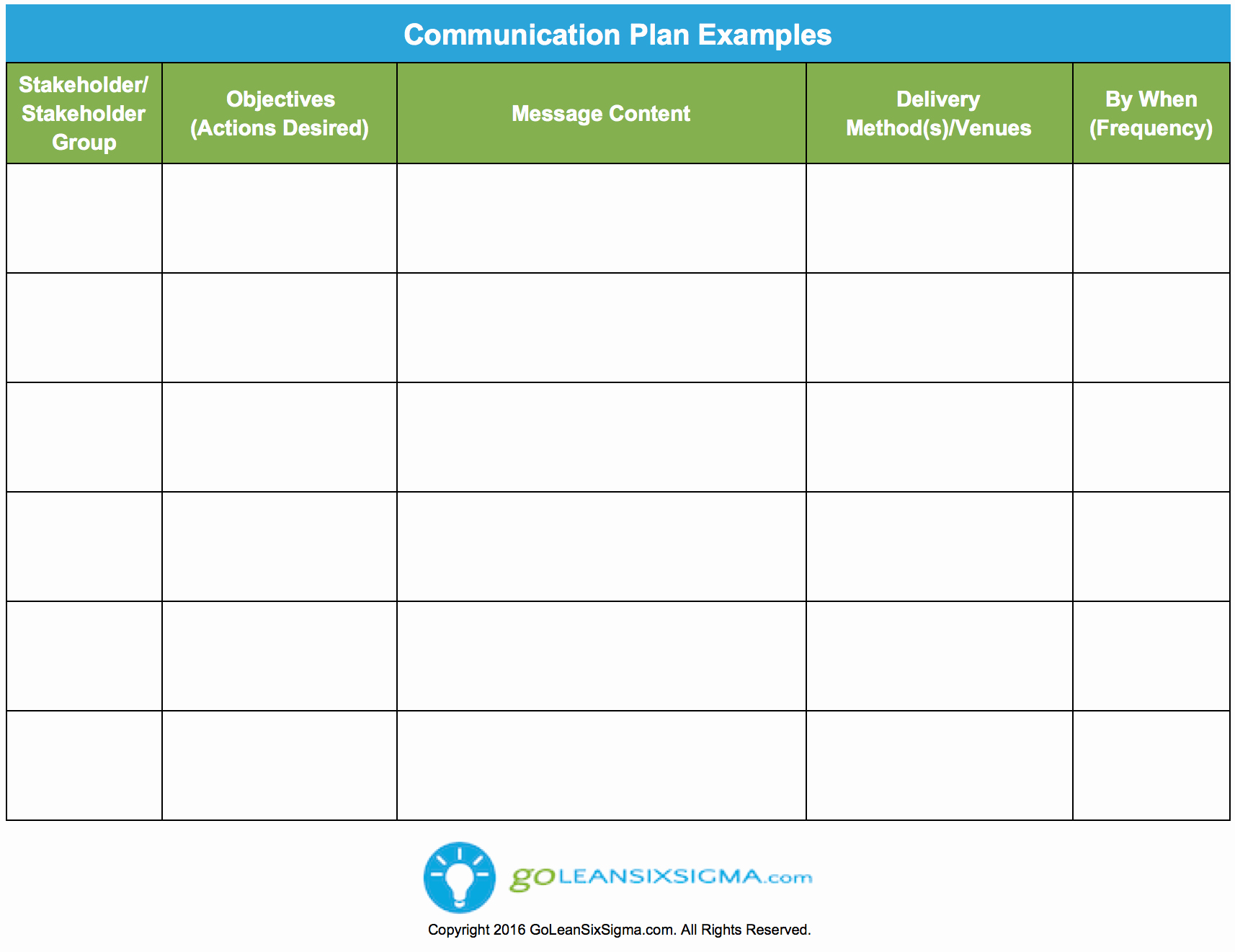 Munication Plan Template & Example