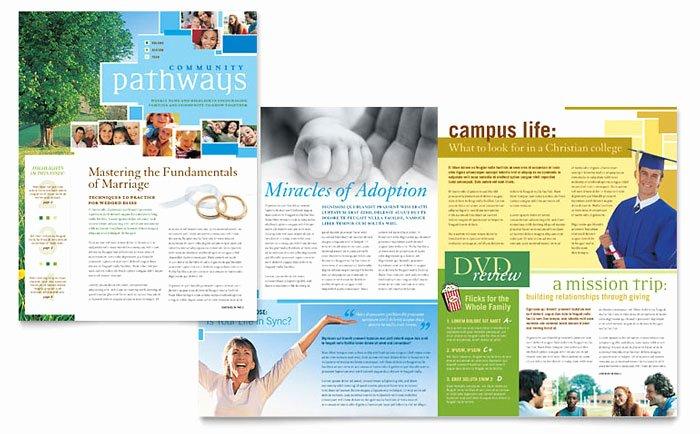 Munity Church Newsletter Template Design