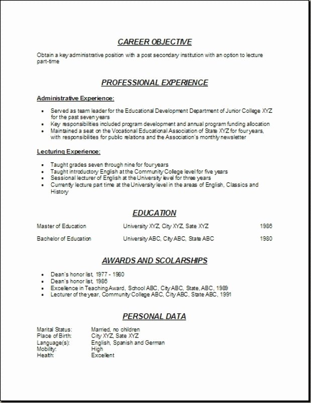 Munity College Resume Best Resume Collection