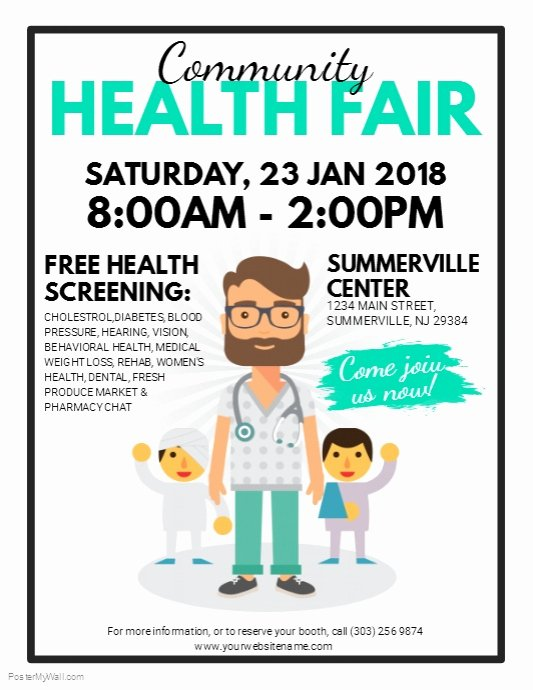 Munity Health Fair Flyer Template
