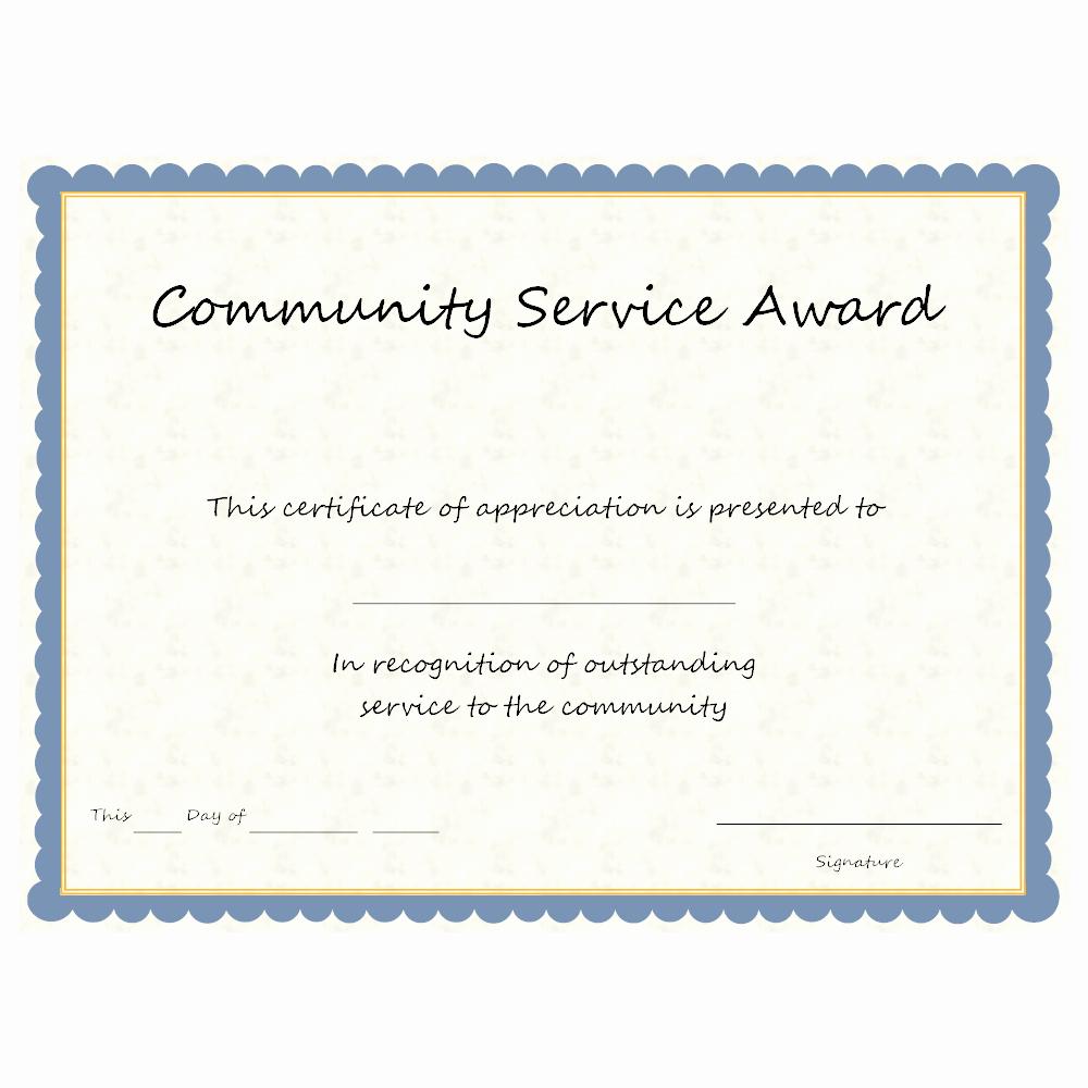Munity Service Award