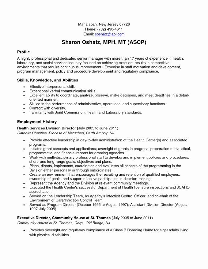 Munity Service Resume