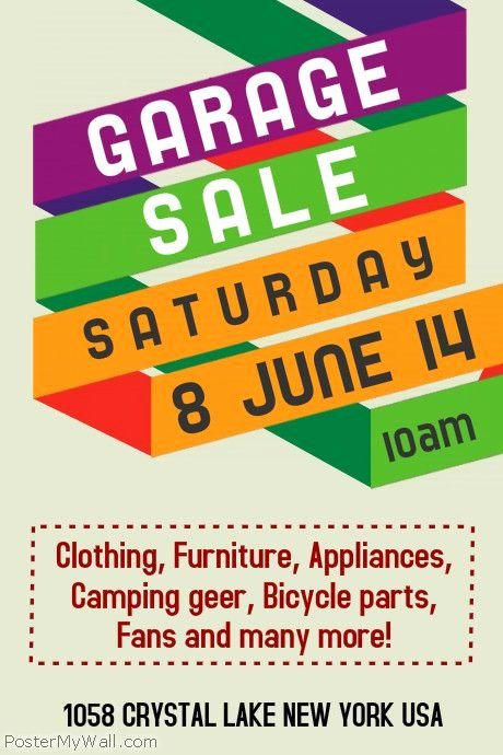 Munity Yard Sale Flyer Template Google Search