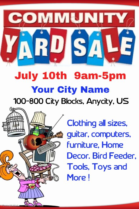 Munity Yard Sale Template