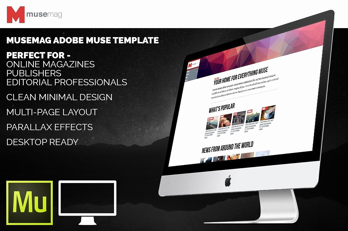 Musemag Adobe Muse Template Website Templates