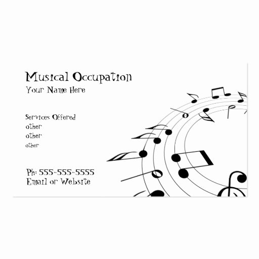 Music Business Card Double Sided Standard Business Cards
