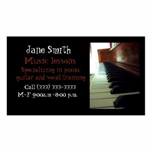 Music Business Card Templates
