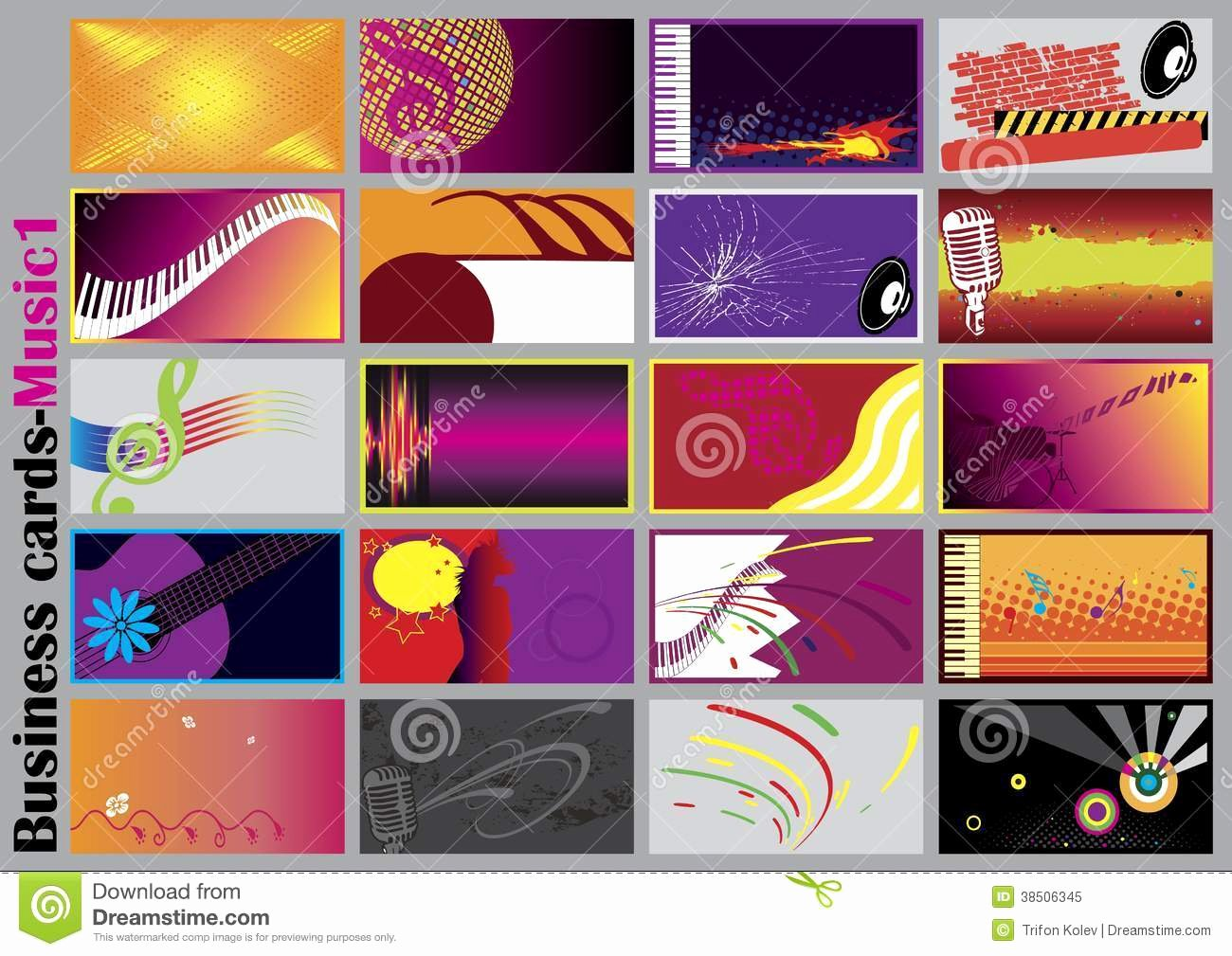 Music Business Cards Stock Vector Image Of Banner Copy