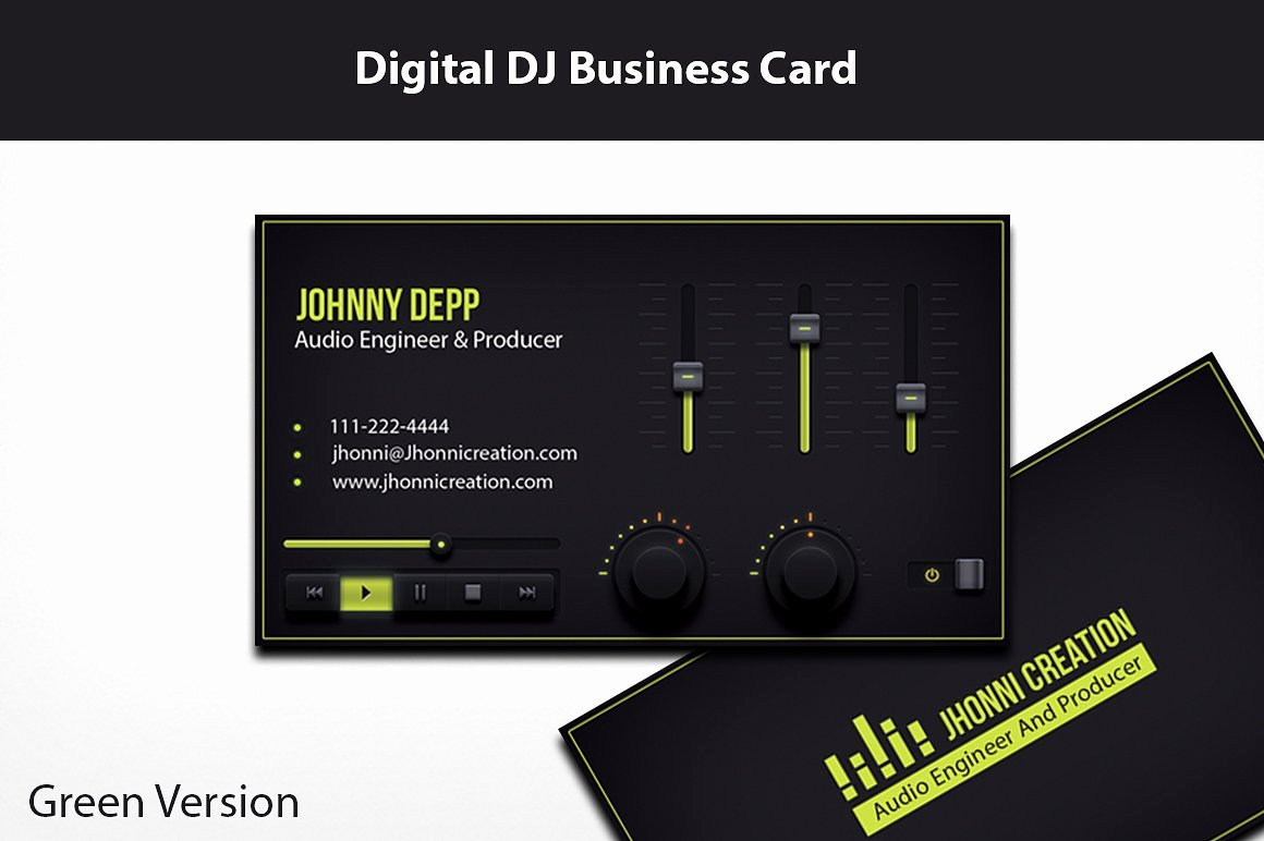 Music Producer and Dj Business Card Business Card