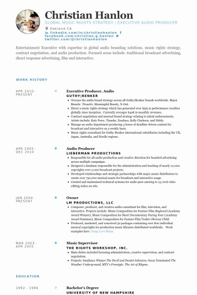 Music Production Resume Best Resume Collection