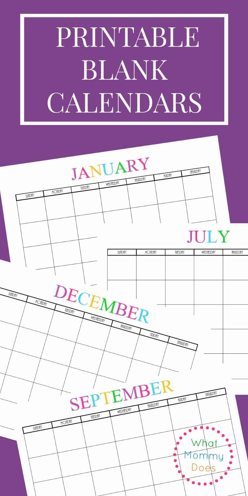 Musings Of An Average Mom Free Printable Blank Calendars