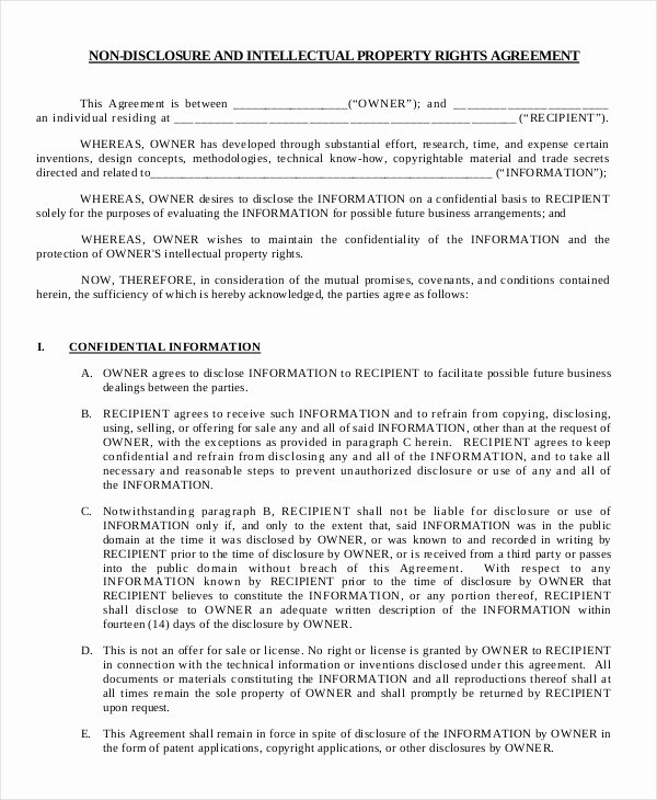 Mutual Non Disclosure Agreement form – 10 Free Word Pdf