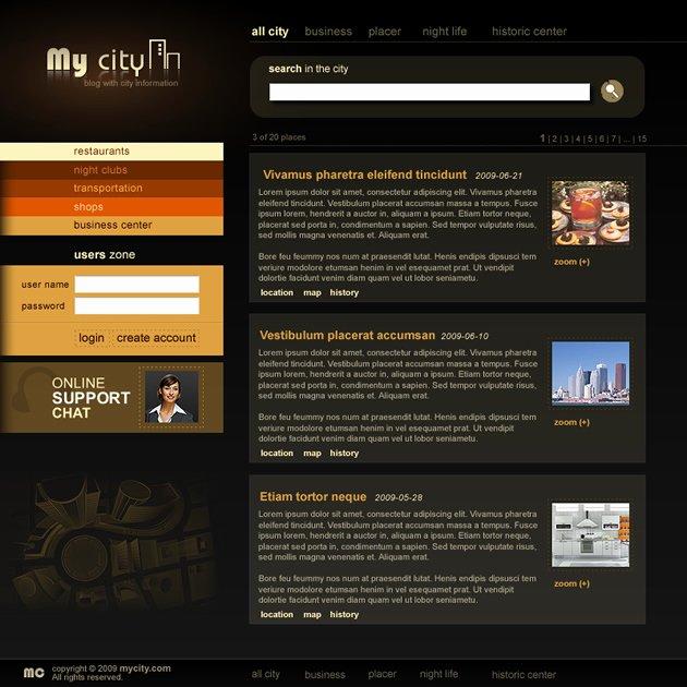 My City Dreamweaver Templates
