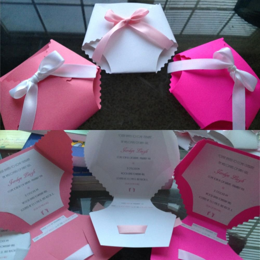My Homemade Baby Shower Invitations Cute and Fun to Make
